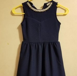A blue size 8 kids dress